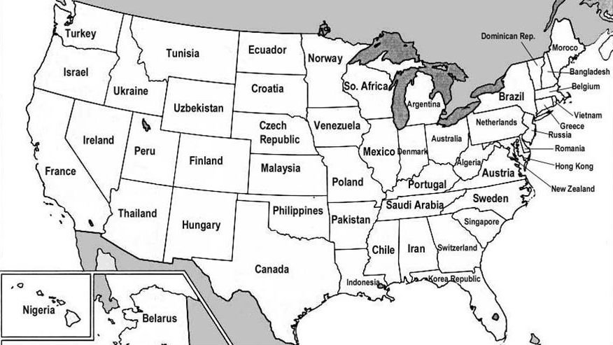 US States Renamed For Countries With Similar GDPs Big Think - Map of us states by gdp