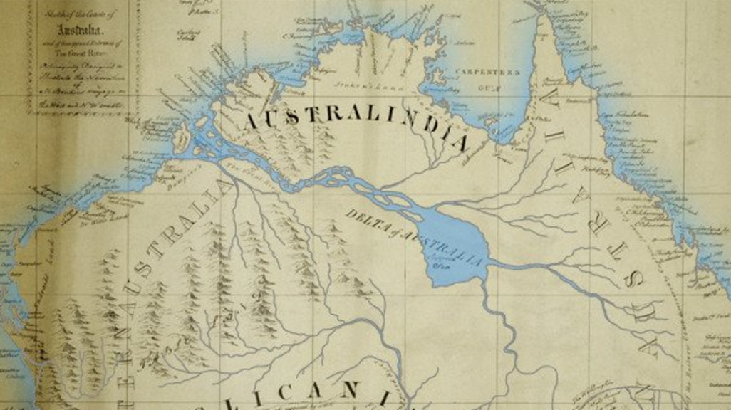 The Great Australian Inland Sea – Big Map of Australia
