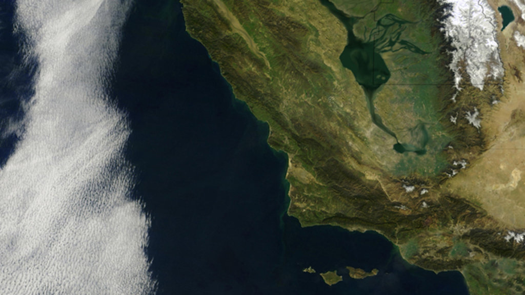 The First Satellite Map Of California Big Think - Satellite mexico map