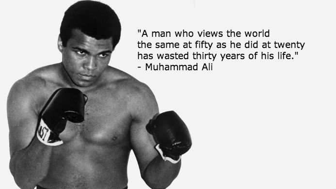 Muhammad Ali on Living and Learning