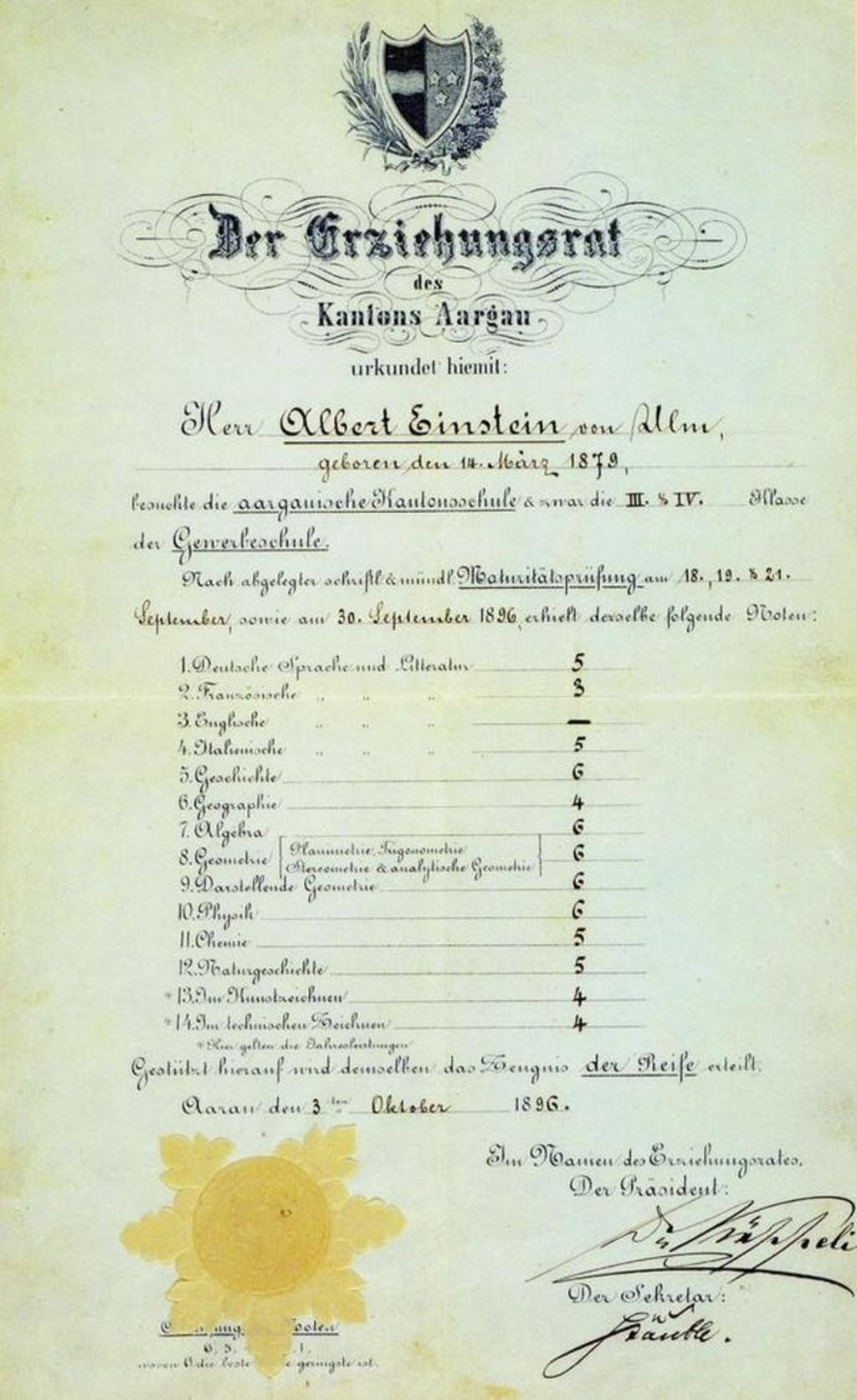 Albert einstein report