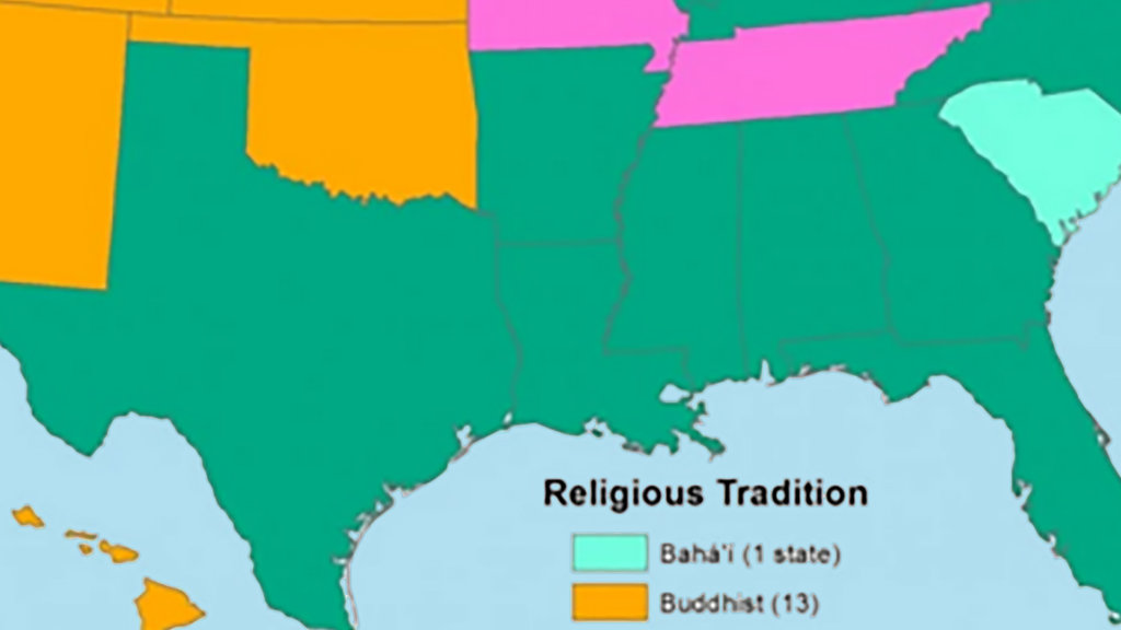 Without Christianity America Is Buddhist Muslim And Jewish Big Think - Christianity map
