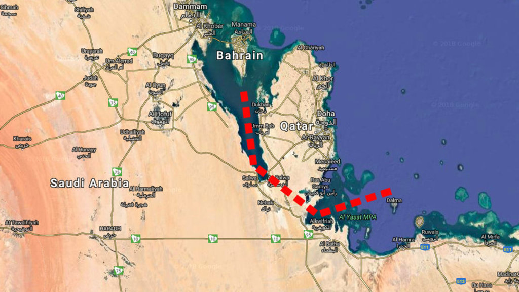 Saudi arabias plans canal to severe qatar from the mainland big think gumiabroncs Choice Image