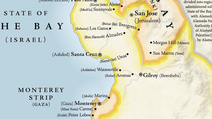 Map turns San Francisco Bay Area into the Middle East Big Think