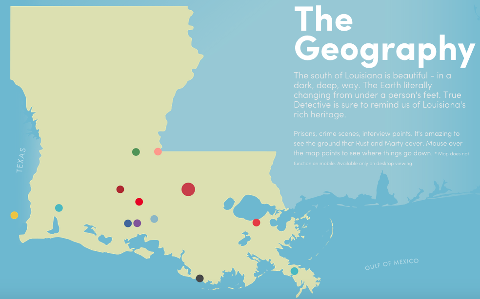 Purgatory USA A Map Of True Detective Country Big Think - Louisiana on the us map
