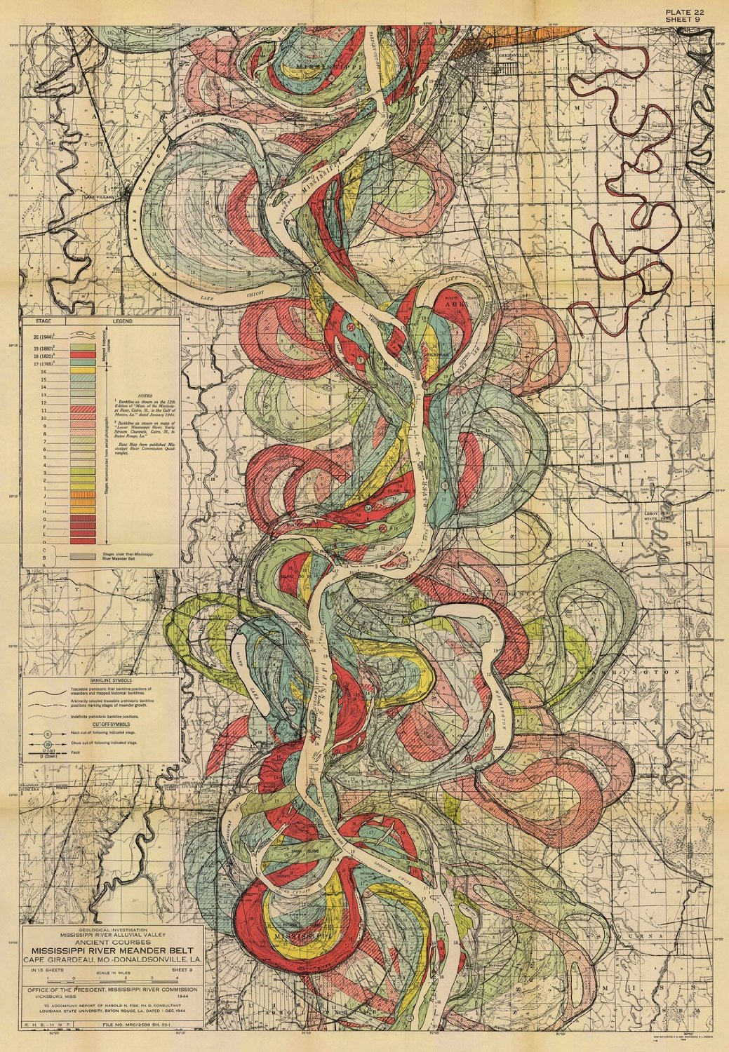 See The Mississippi Shift Like A Snake Big Think - Map of the us mississippi river