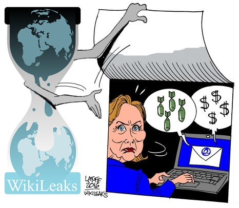 Wikileaks Clinton cartoon