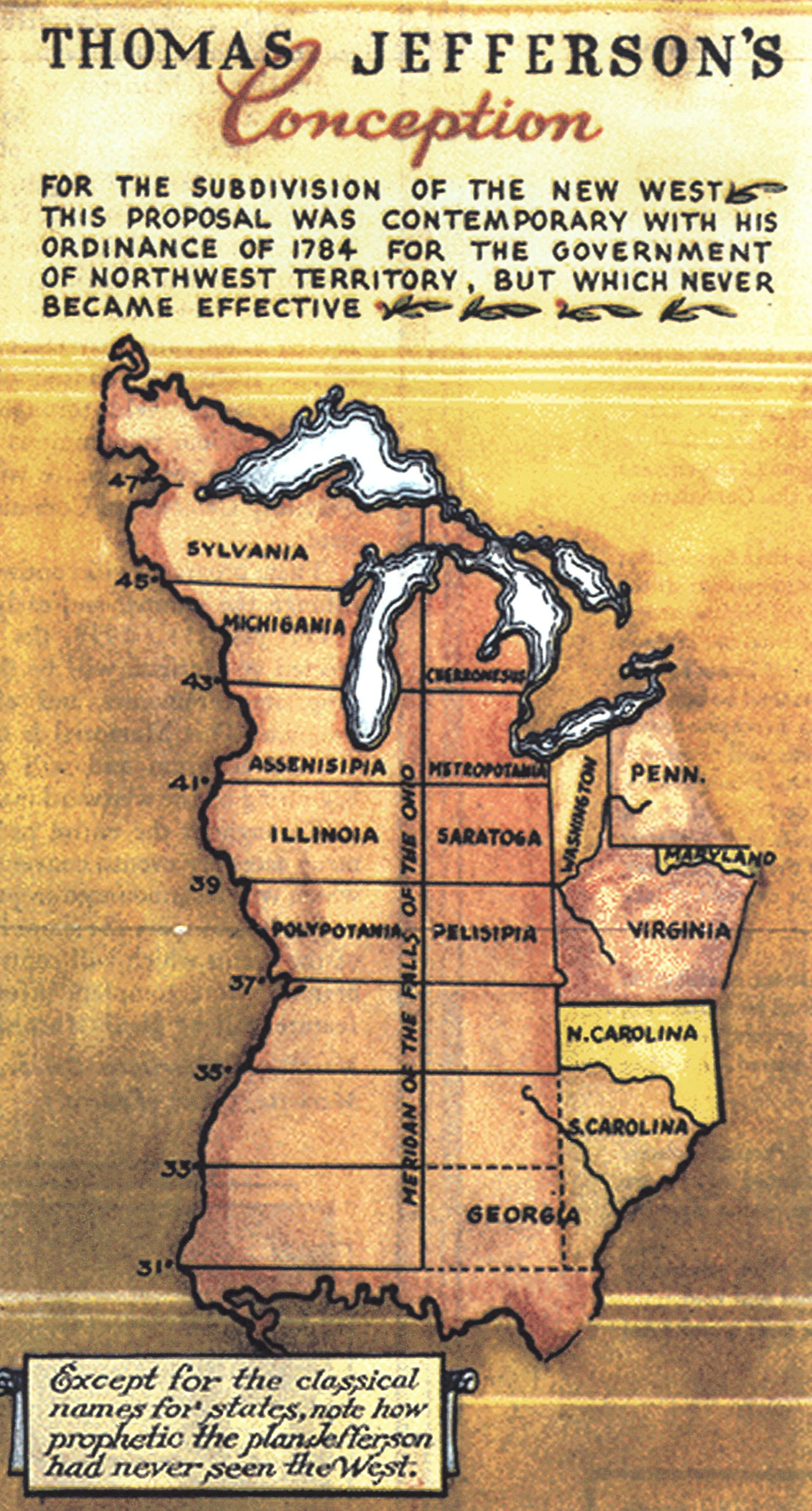 Jeffersons Absurd Plan for New Northwestern States  Big Think