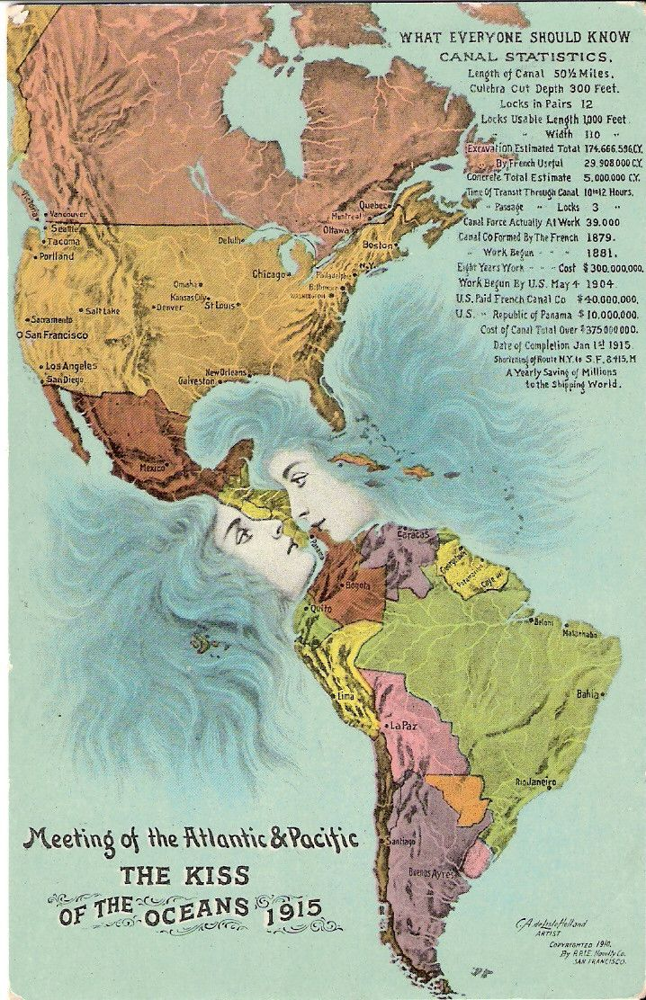 The Panama Canal Where Two Oceans Kiss Big Think - Pacific and atlantic ocean map