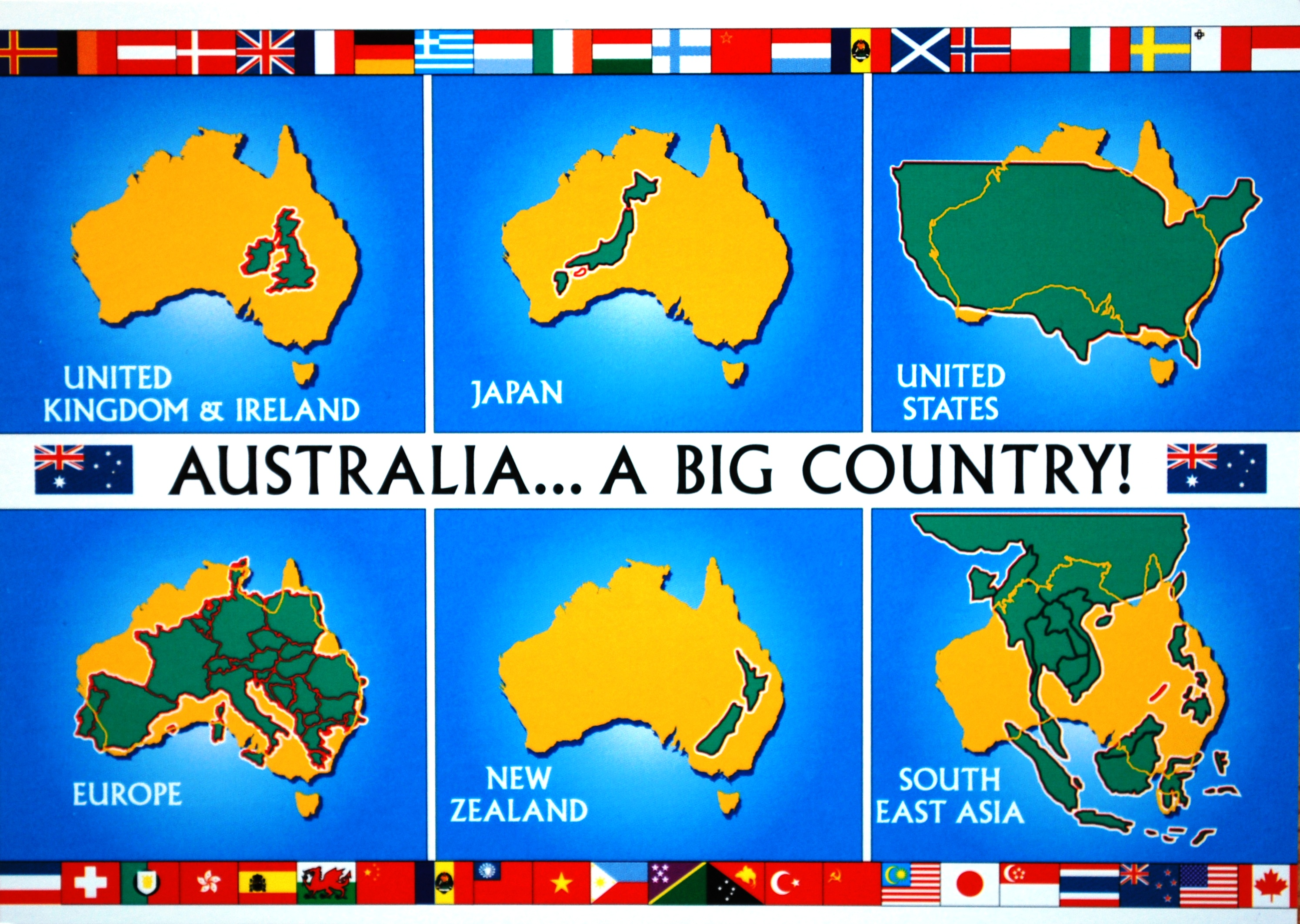 Australia a World Leader in Bigness – Big Map of Australia