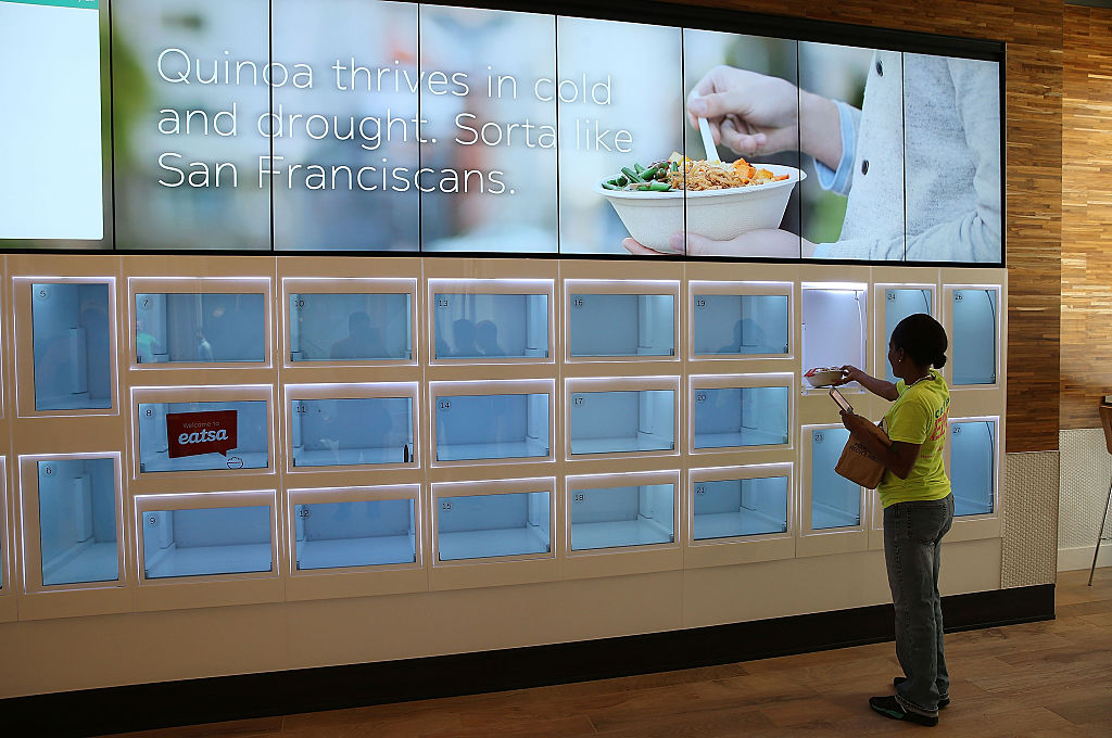 Eatsa, a full-automated restaurant in San Fran (Credit: Getty Images)