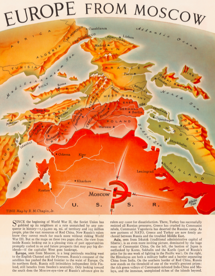 Map shows how communism threatened 1950s europe big think strange maps 103 gumiabroncs Images