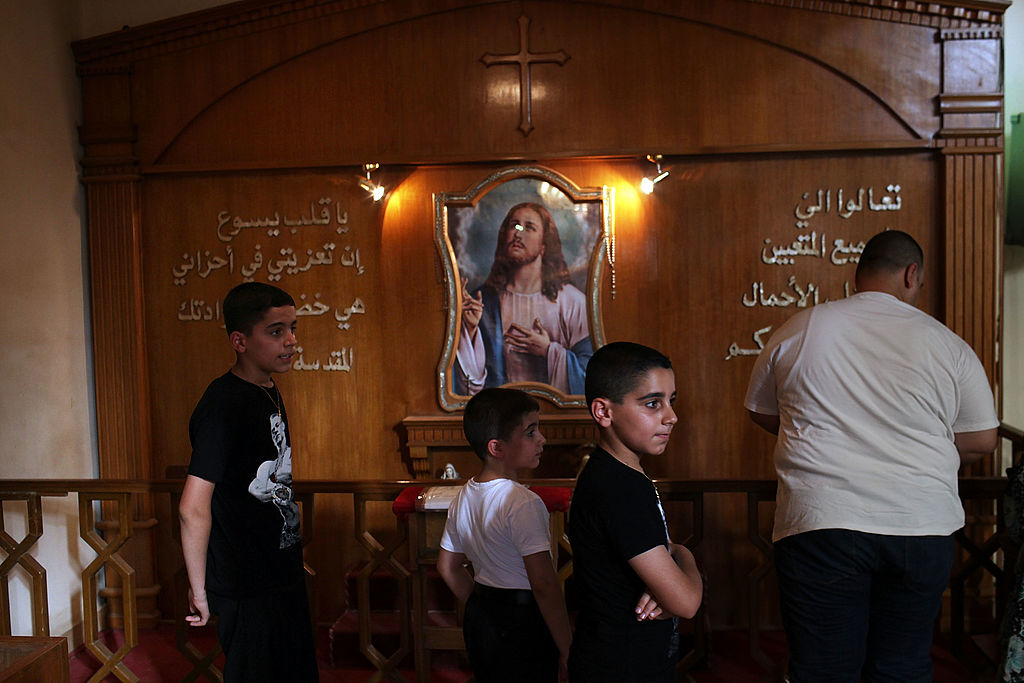 Iraqi Christians in Church