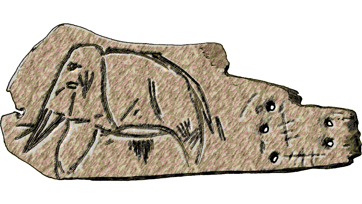 paleolithic mammoth carving