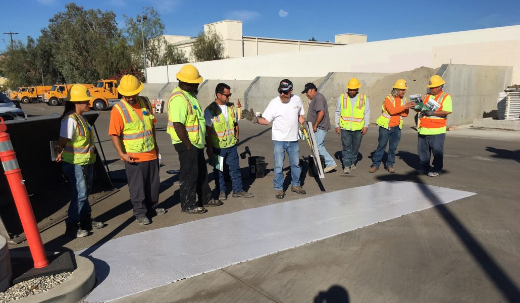 GuardTop conducted a demonstration of our  sealcoat product CoolSeal for engineers at the City of Los Angeles Bureau of Street Services.