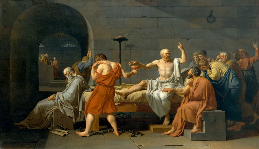 The Death of Socrates, by Jacques-Louis David