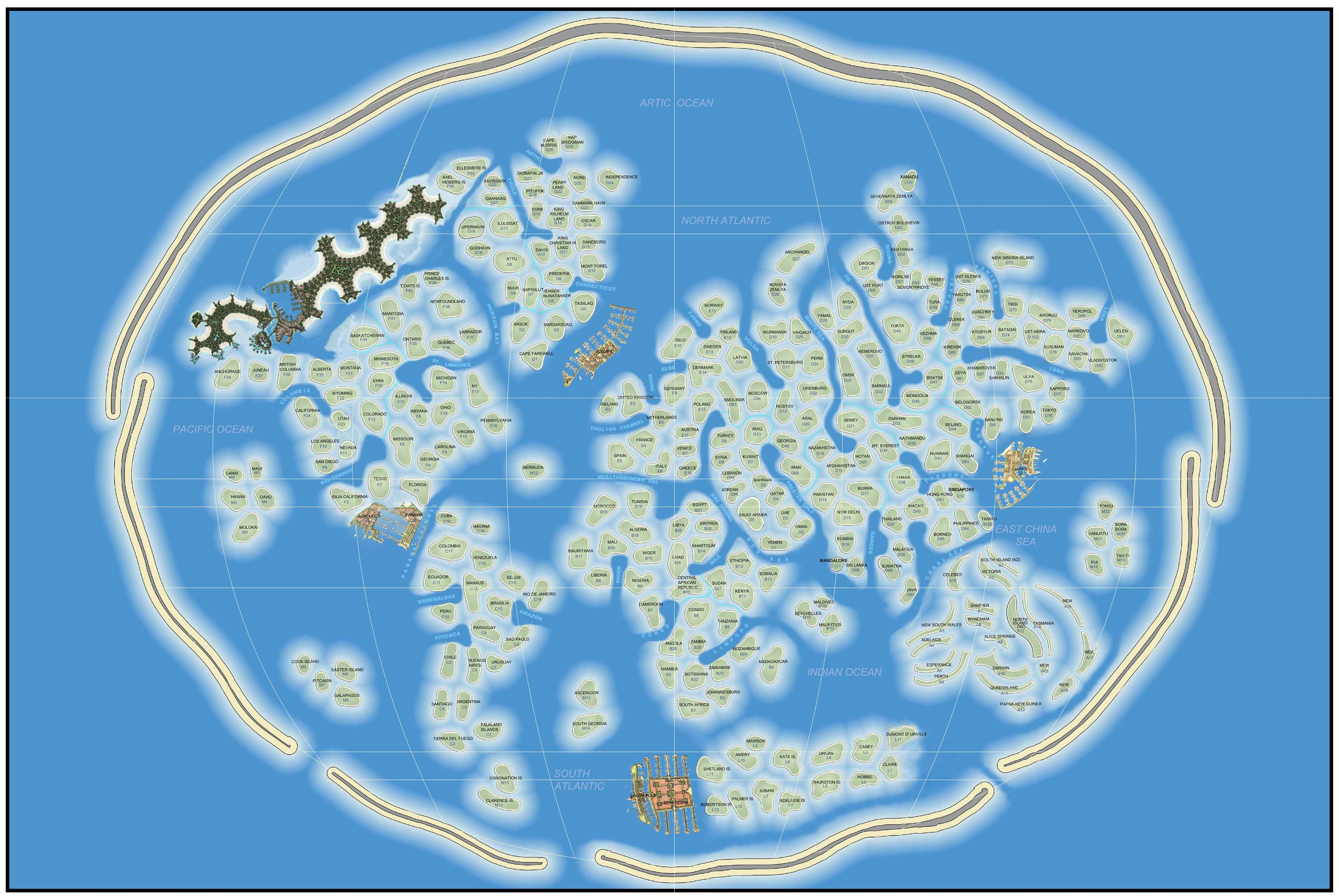 First Map Artificial Island Chain The World Play